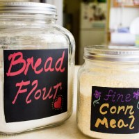 Pretty pantry: chalk board paint jars