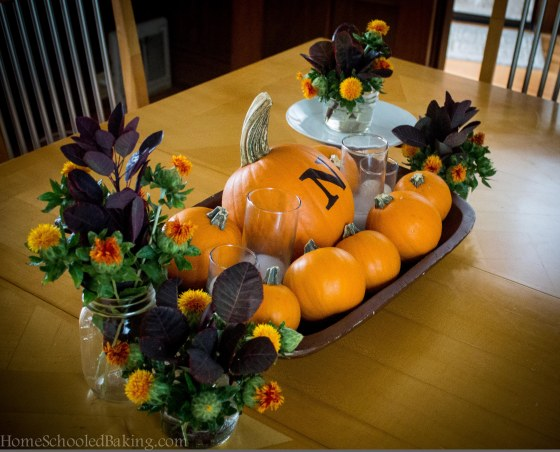 Monogram Fall Centerpiece