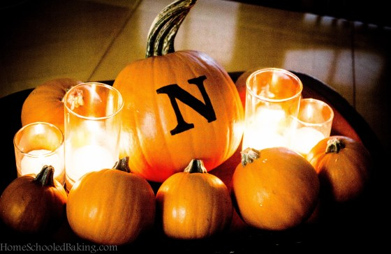 monogram pumpkin