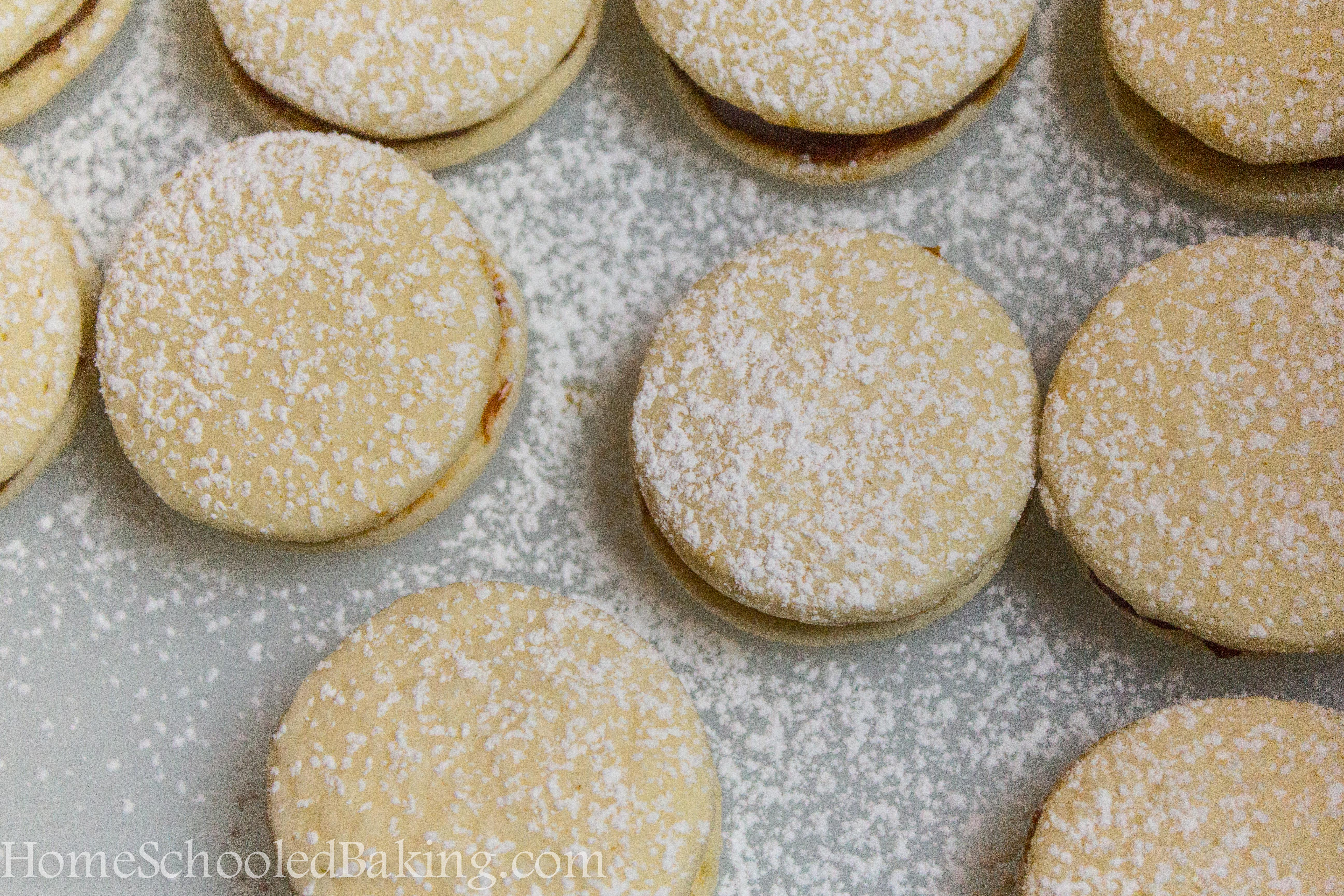 If you're not familiar with Alfajores, they are a sandwich cookie ...