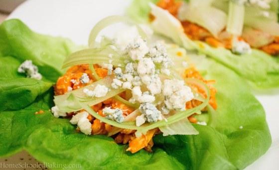 wing sauce lettuce wraps